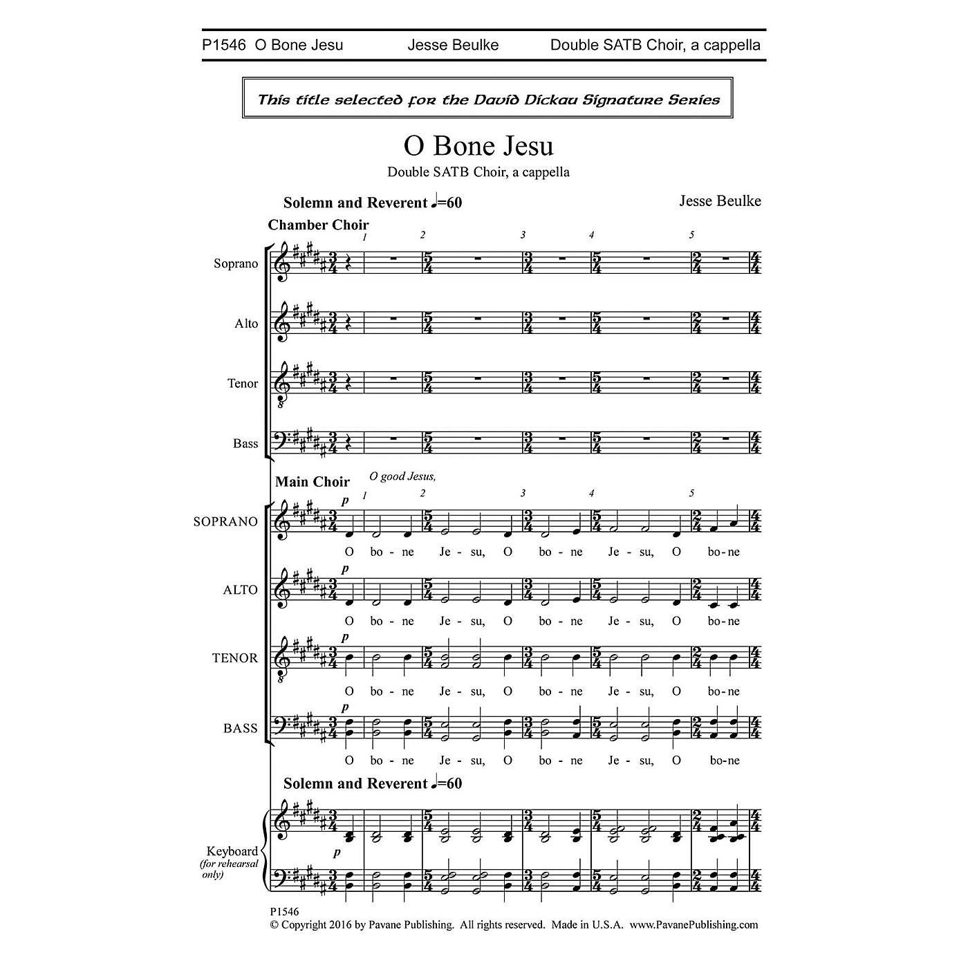 Pavane O Bone Jesu SATB a cappella composed by Jesse Beulke thumbnail