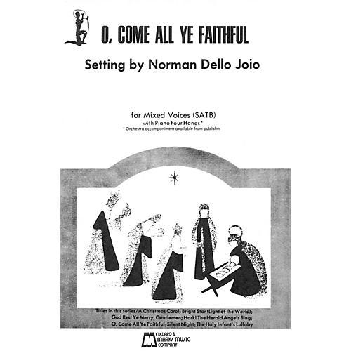 Edward B. Marks Music Company O Come All Ye Faithful (SATB, piano 4 hands) thumbnail