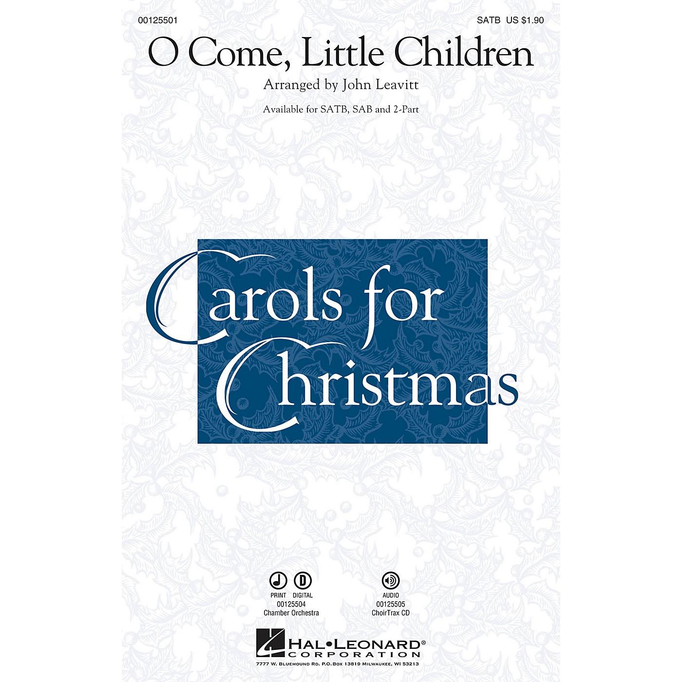 Hal Leonard O Come, Little Children SAB Arranged by John Leavitt thumbnail
