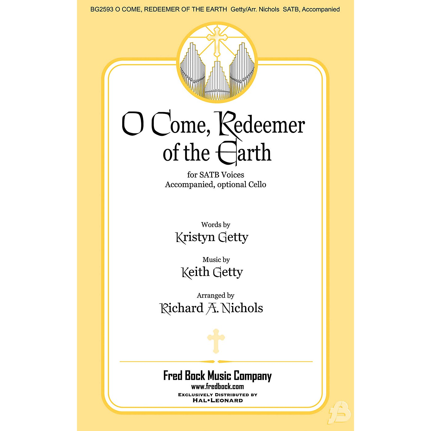 Fred Bock Music O Come, Redeemer of the Earth SATB arranged by Richard A. Nichols thumbnail