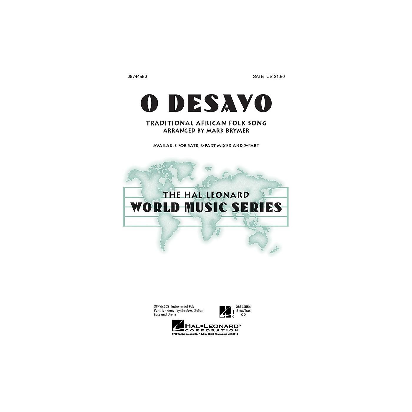 Hal Leonard O Desayo 3-Part Mixed Arranged by Mark Brymer thumbnail