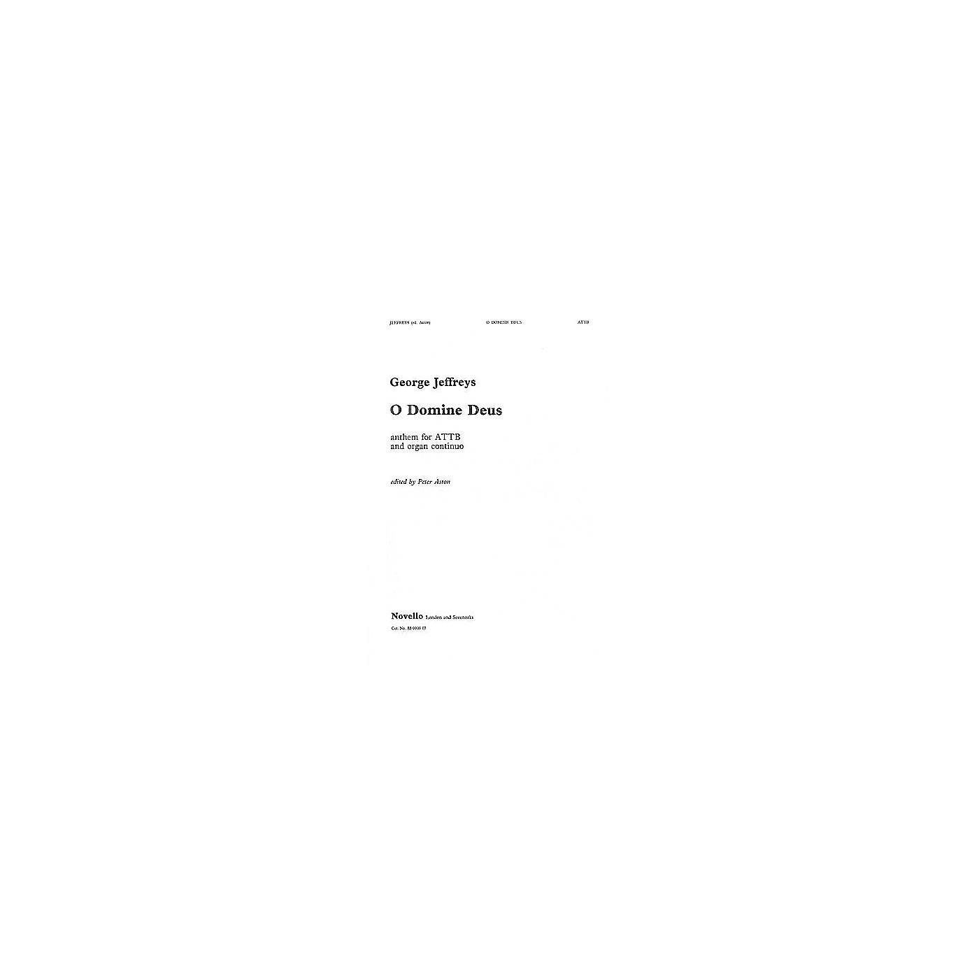 Novello O Domine Deus/O Deus Meus CHORAL SCORE Composed by George Jeffreys Edited by Peter Aston thumbnail