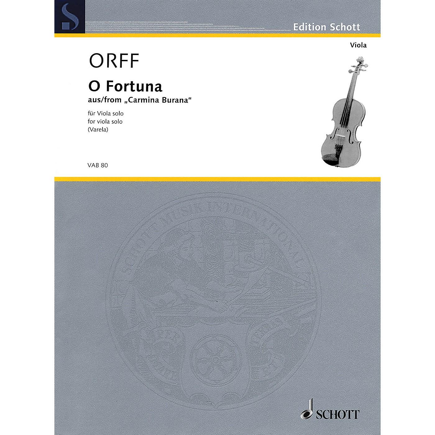 Schott O Fortuna from Carmina Burana (Viola Solo) String Solo Series Softcover thumbnail