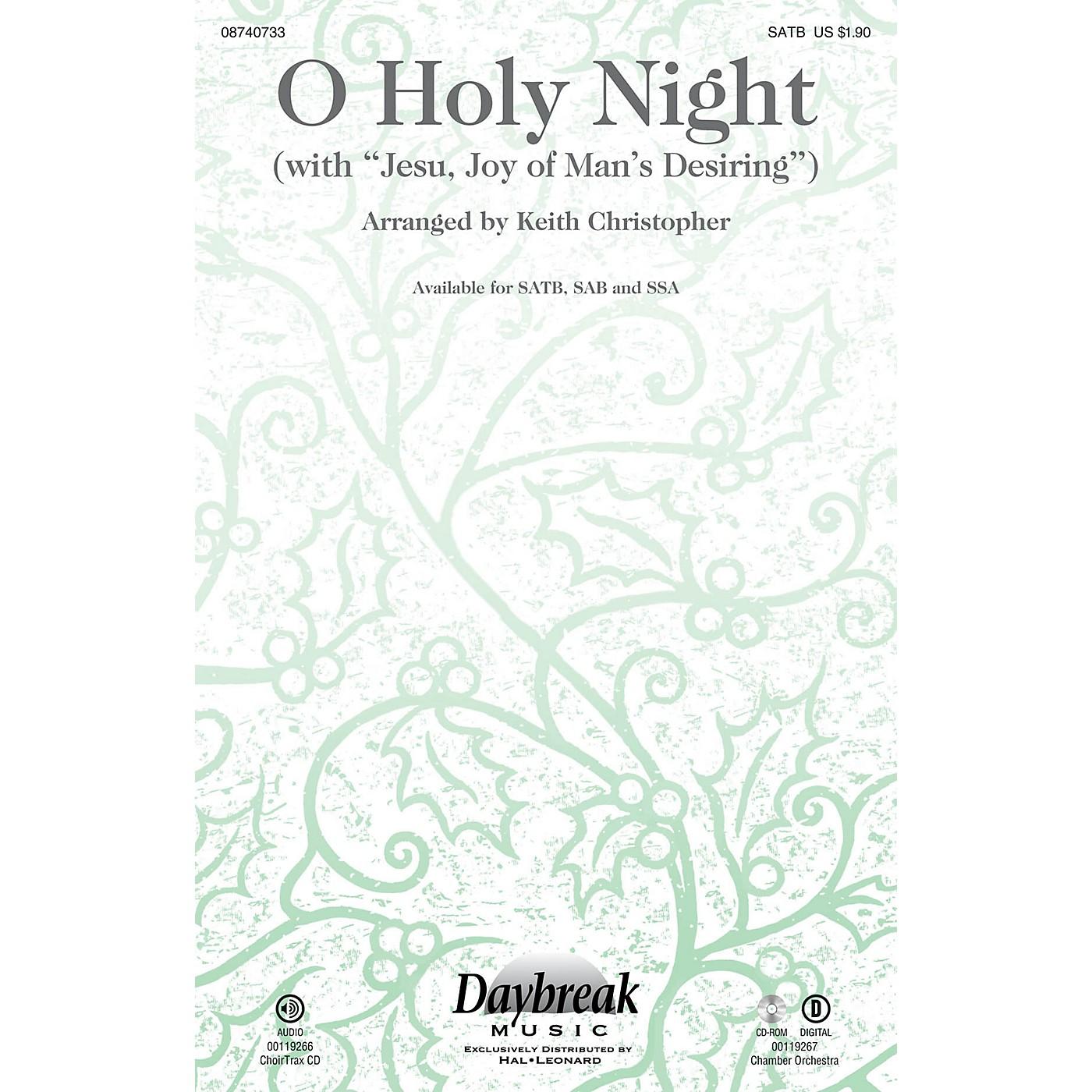 Daybreak Music O Holy Night (with Jesu, Joy of Man's Desiring) CHOIRTRAX CD Arranged by Keith Christopher thumbnail