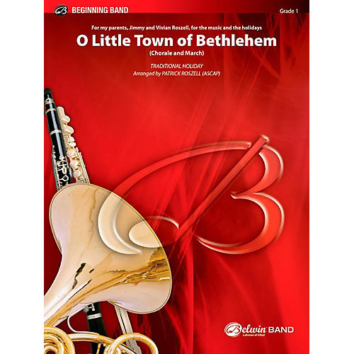 BELWIN O Little Town of Bethlehem Concert Band Grade 1 (Very Easy) thumbnail