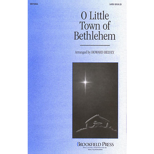 Brookfield O Little Town of Bethlehem SATB arranged by Howard Helvey thumbnail