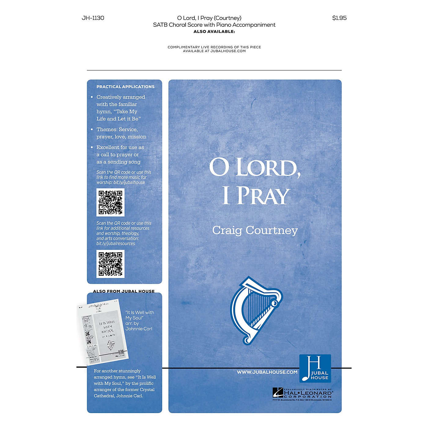 Jubal House Publications O Lord, I Pray SATB composed by Craig Courtney thumbnail