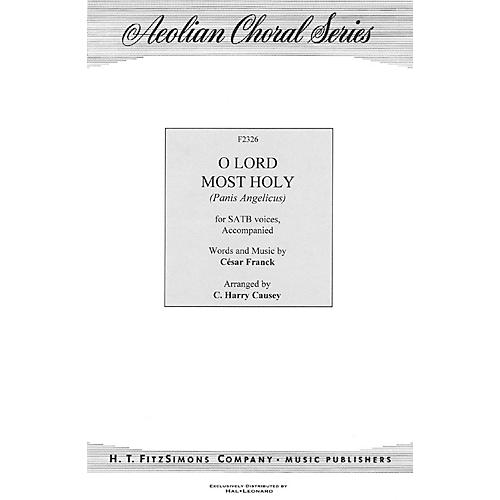 H.T. FitzSimons Company O Lord Most Holy (Panis Angelicus) SATB arranged by C. Harry Causey thumbnail