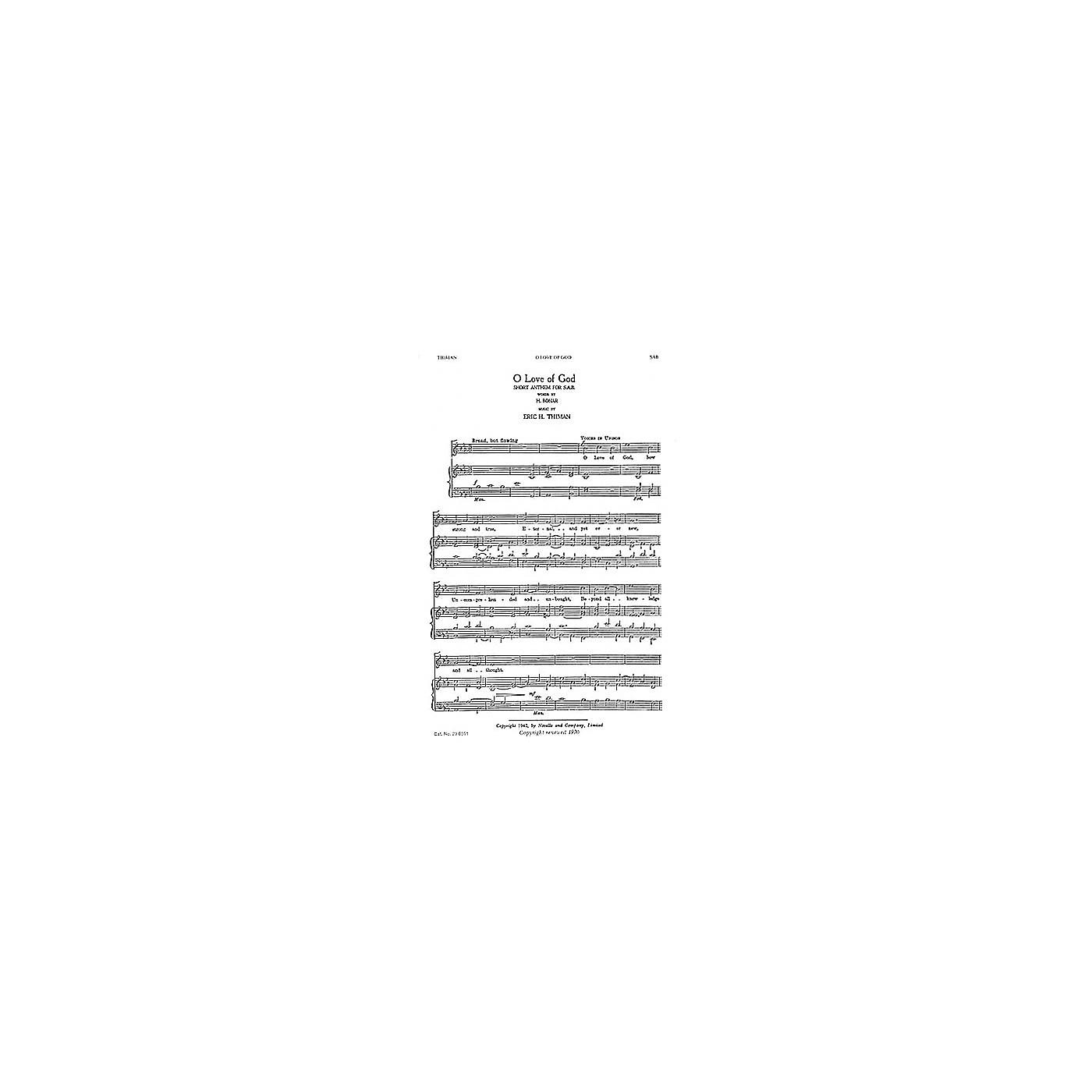 Novello O Love Of God SAB Composed by Eric Thiman thumbnail