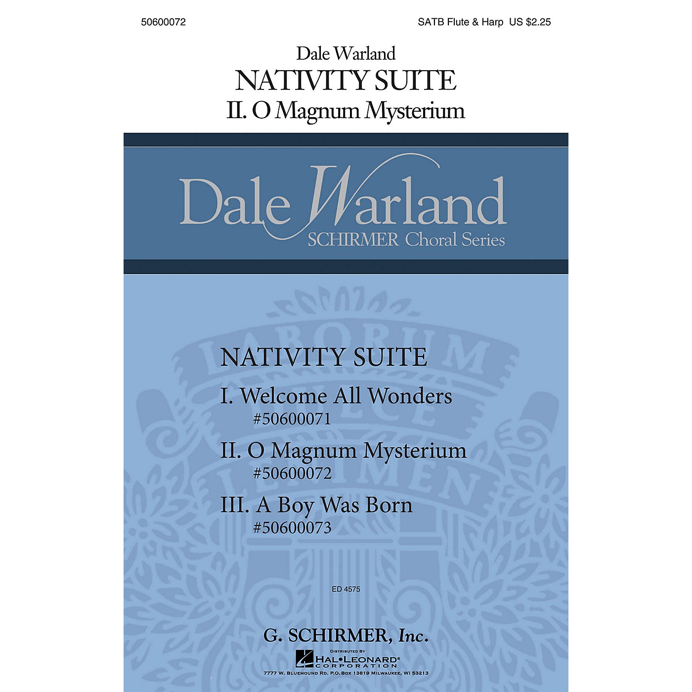 G. Schirmer O Magnum Mysterium (Dale Warland Choral Series) SATB with flute & harp composed by Dale Warland thumbnail