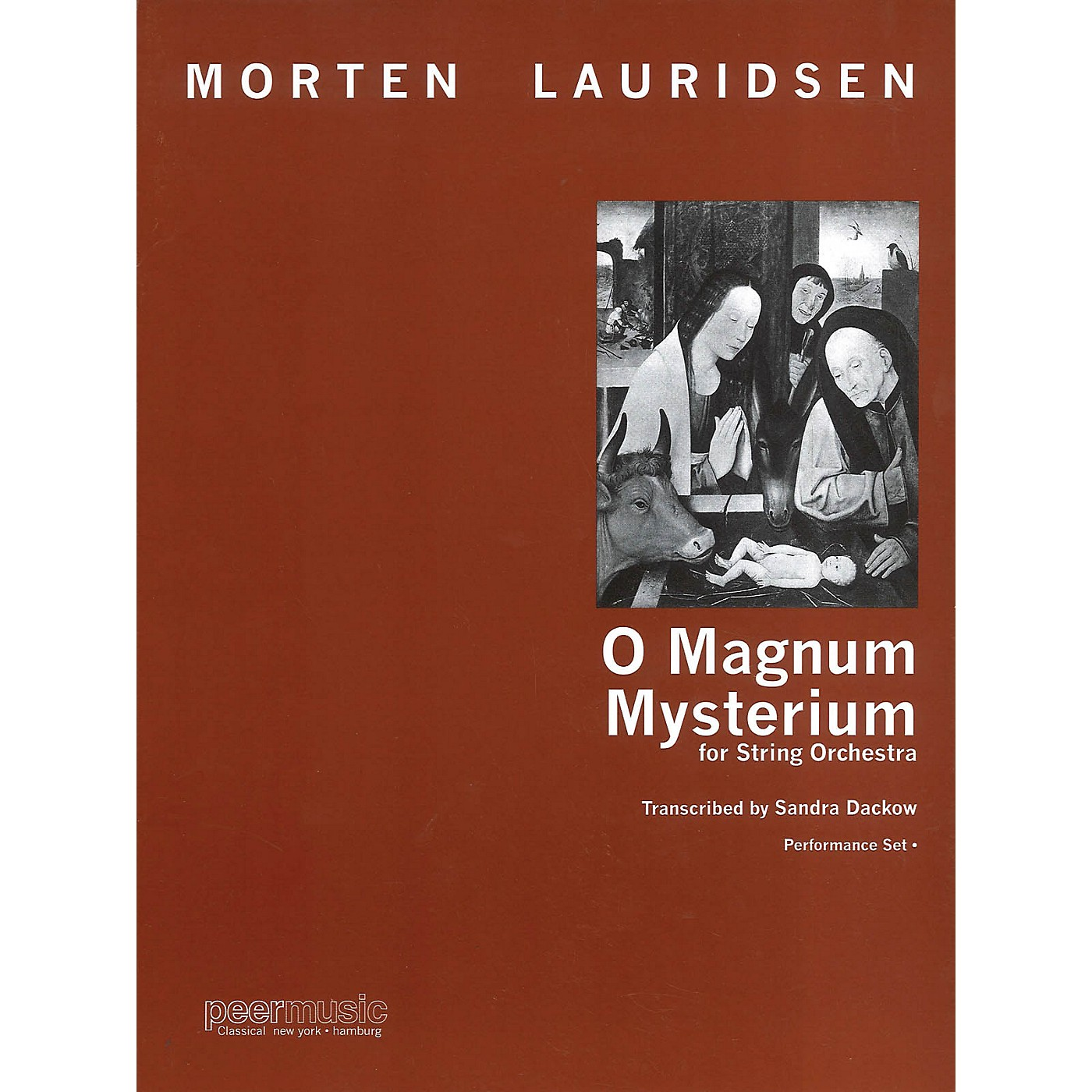 Peer Music O Magnum Mysterium Peermusic Classical Softcover Composed by Morten Lauridsen Arranged by Sandra Dackow thumbnail