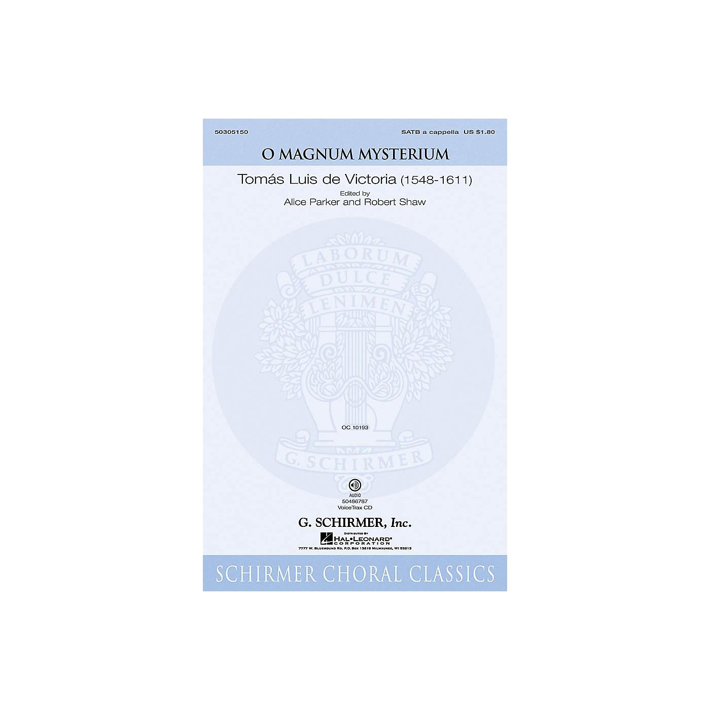 G. Schirmer O Magnum Mysterium SATB a cappella composed by De Victoria thumbnail