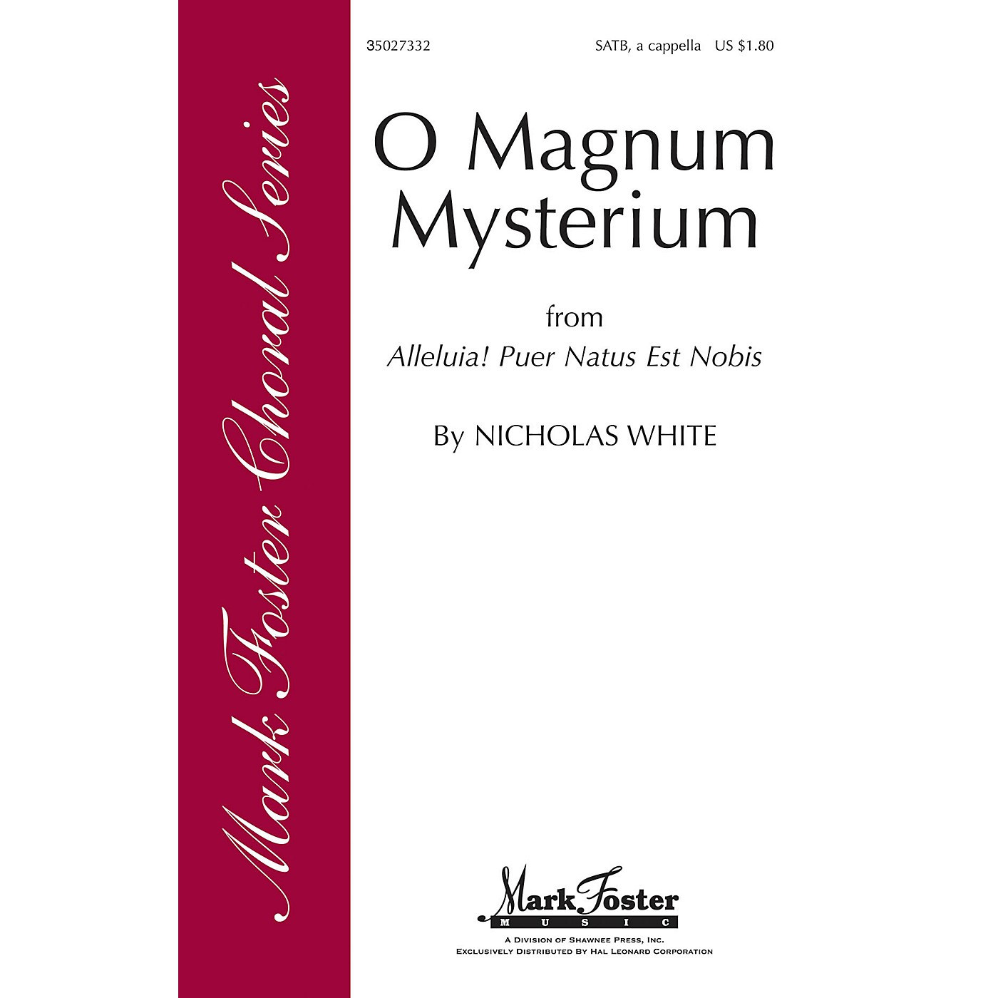 Shawnee Press O Magnum Mysterium SATB a cappella composed by Nicholas White thumbnail