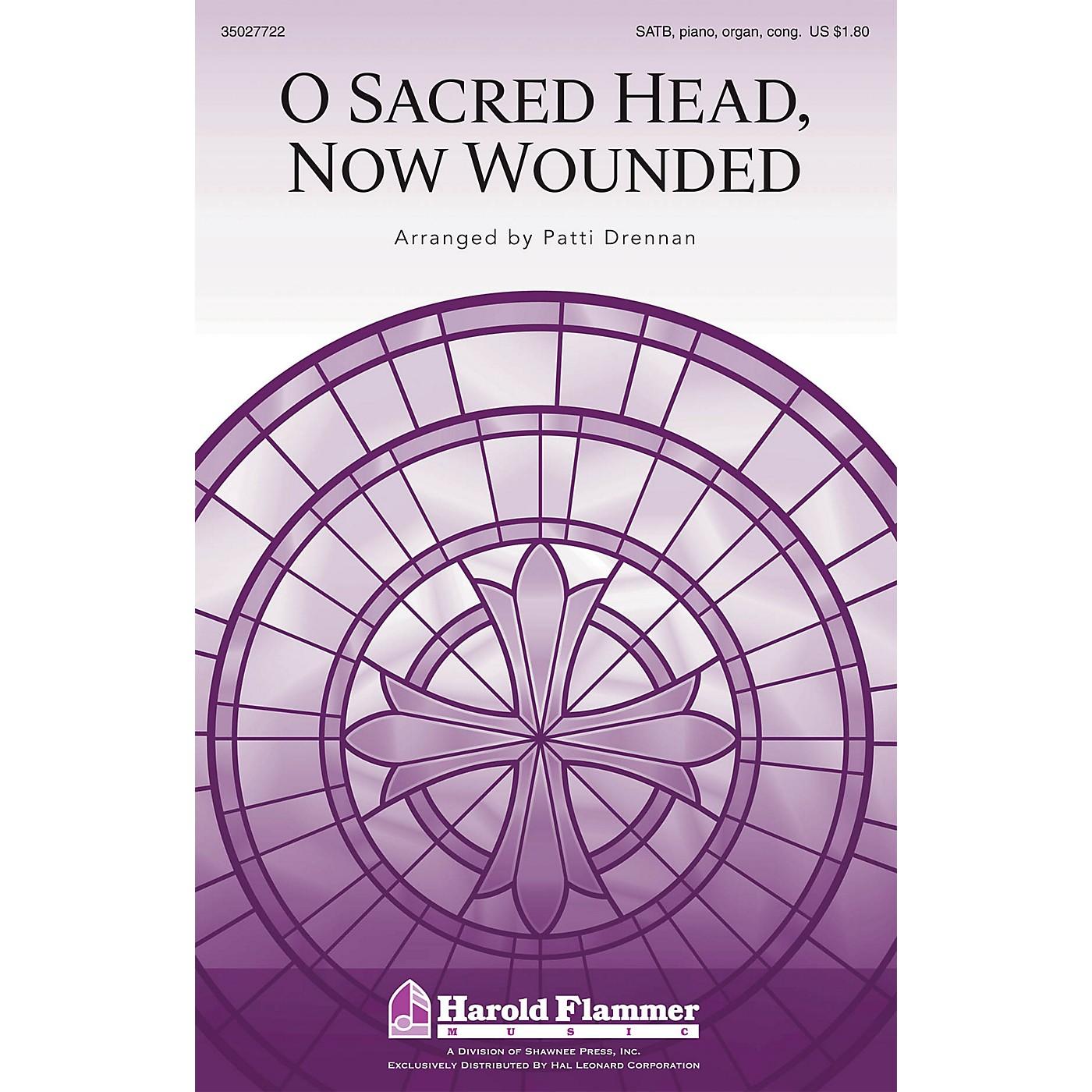 Shawnee Press O Sacred Head, Now Wounded SATB, PIANO AND ORGAN arranged by Patti Drennan thumbnail