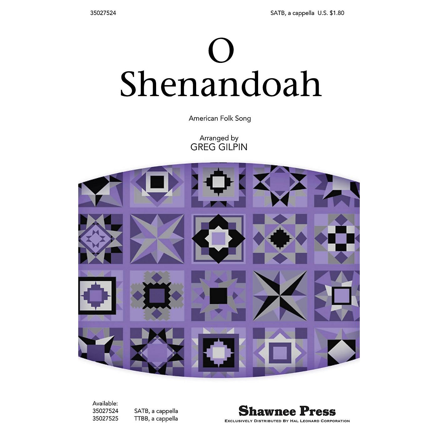 Shawnee Press O Shenandoah SATB a cappella arranged by Greg Gilpin thumbnail