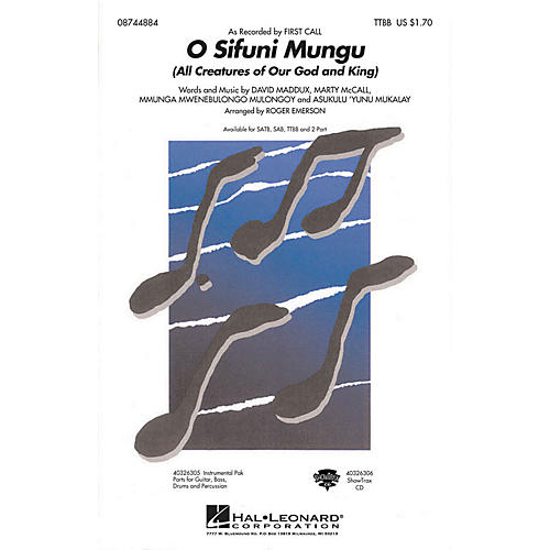 Hal Leonard O Sifuni Mungu (All Creatures of Our God and King) TTBB by First Call arranged by Roger Emerson thumbnail