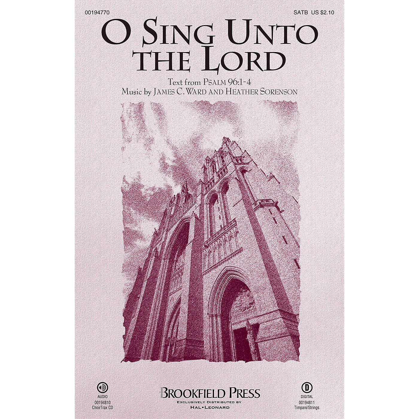 Brookfield O Sing Unto the Lord (Psalm 96) SATB arranged by Heather Sorenson thumbnail