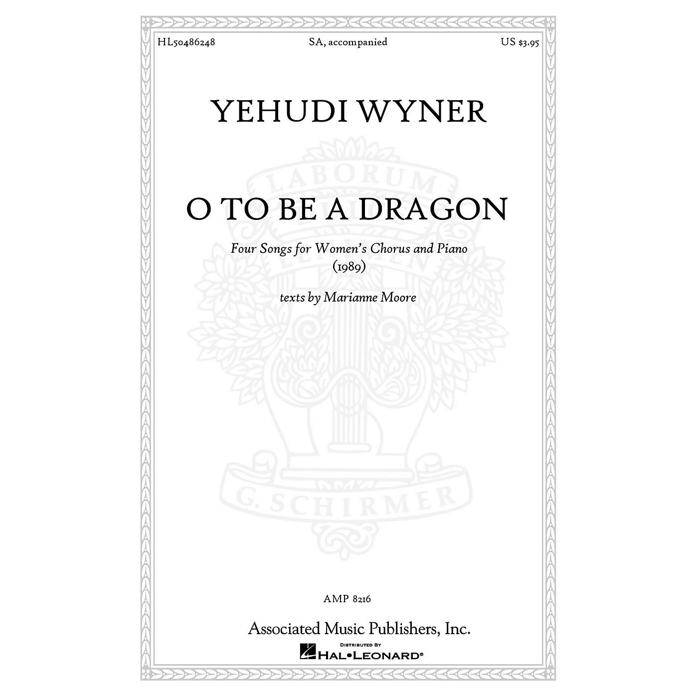 Associated O to Be a Dragon SA composed by Yehudi Wyner thumbnail