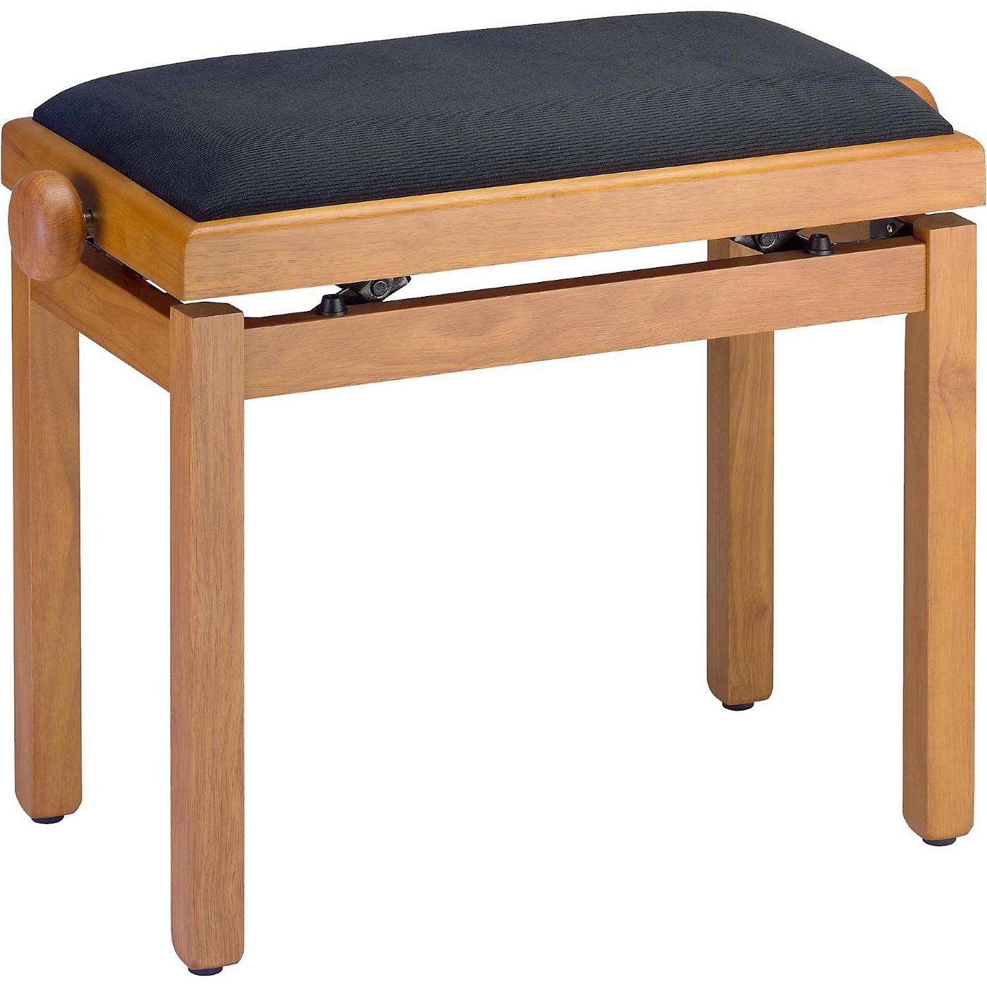 Stagg OAK PIANO BENCH MATT+BLACK VELVET TOP thumbnail