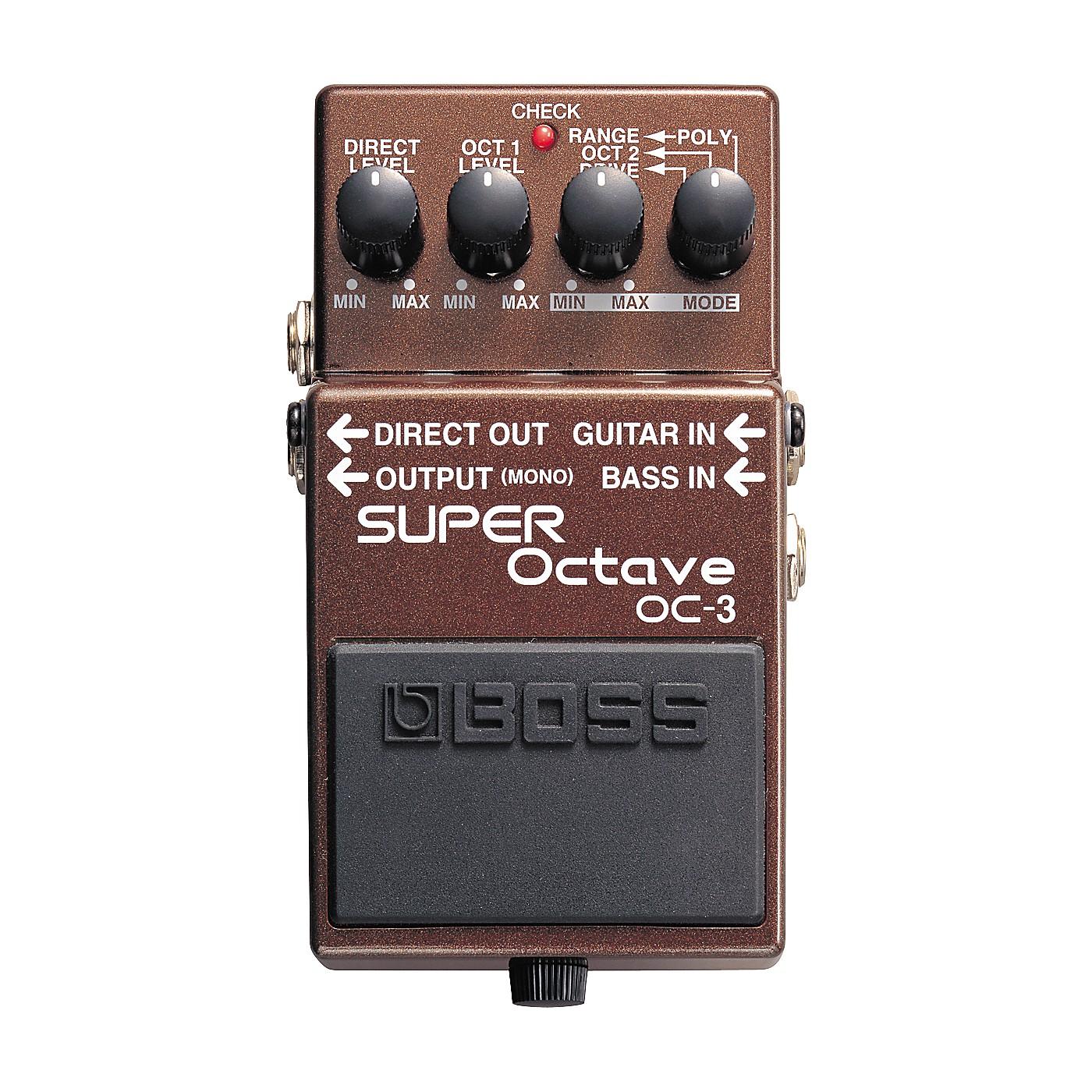 Boss OC-3 SUPER Octave Pedal thumbnail