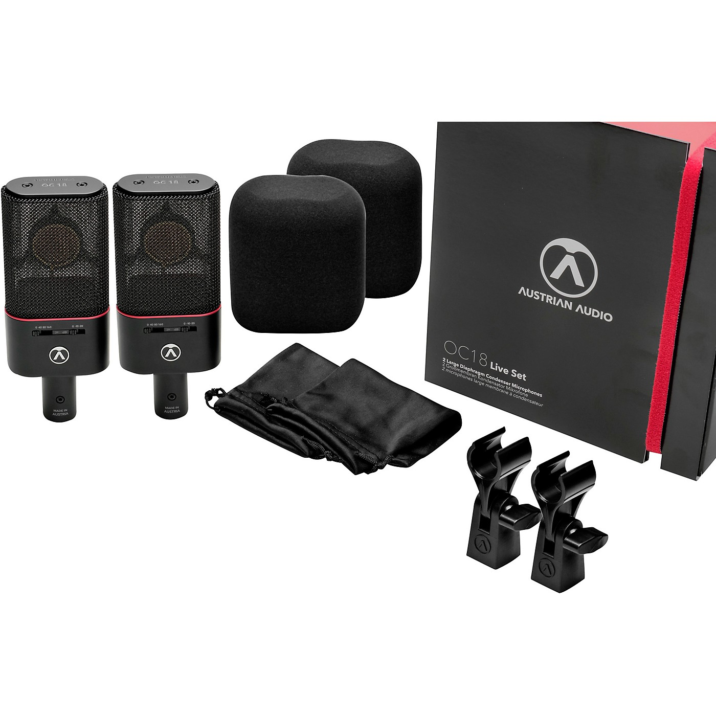 Austrian Audio OC18 Large-diaphragm Condenser Microphone - Live Set thumbnail
