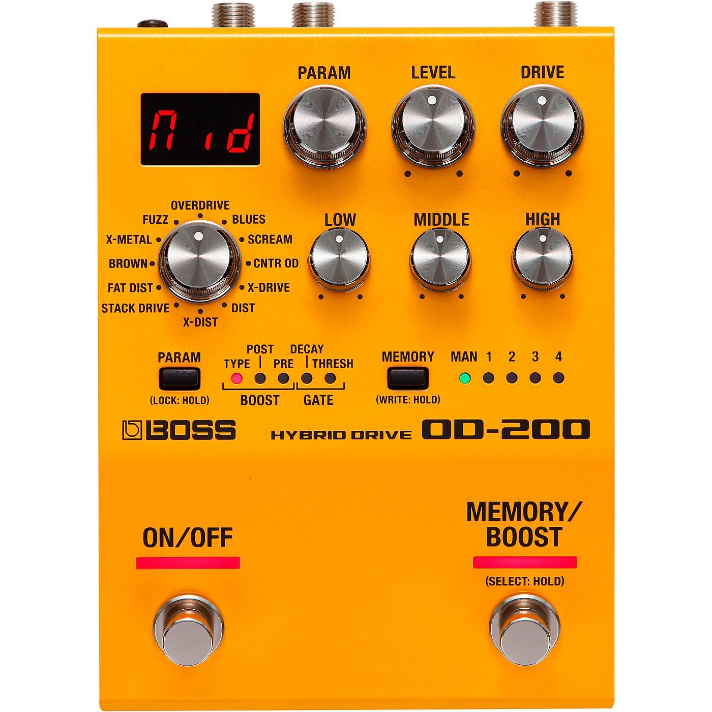BOSS OD-200 Hybrid Drive Effects Pedal thumbnail