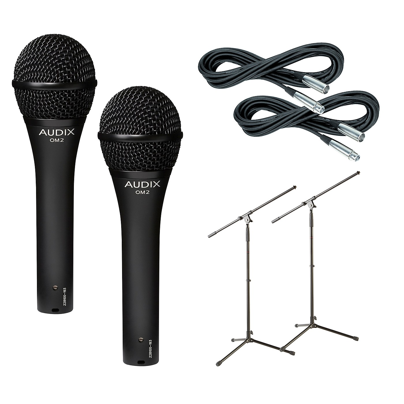 Audix OM-2 Mic with Cable and Stand 2 Pack thumbnail