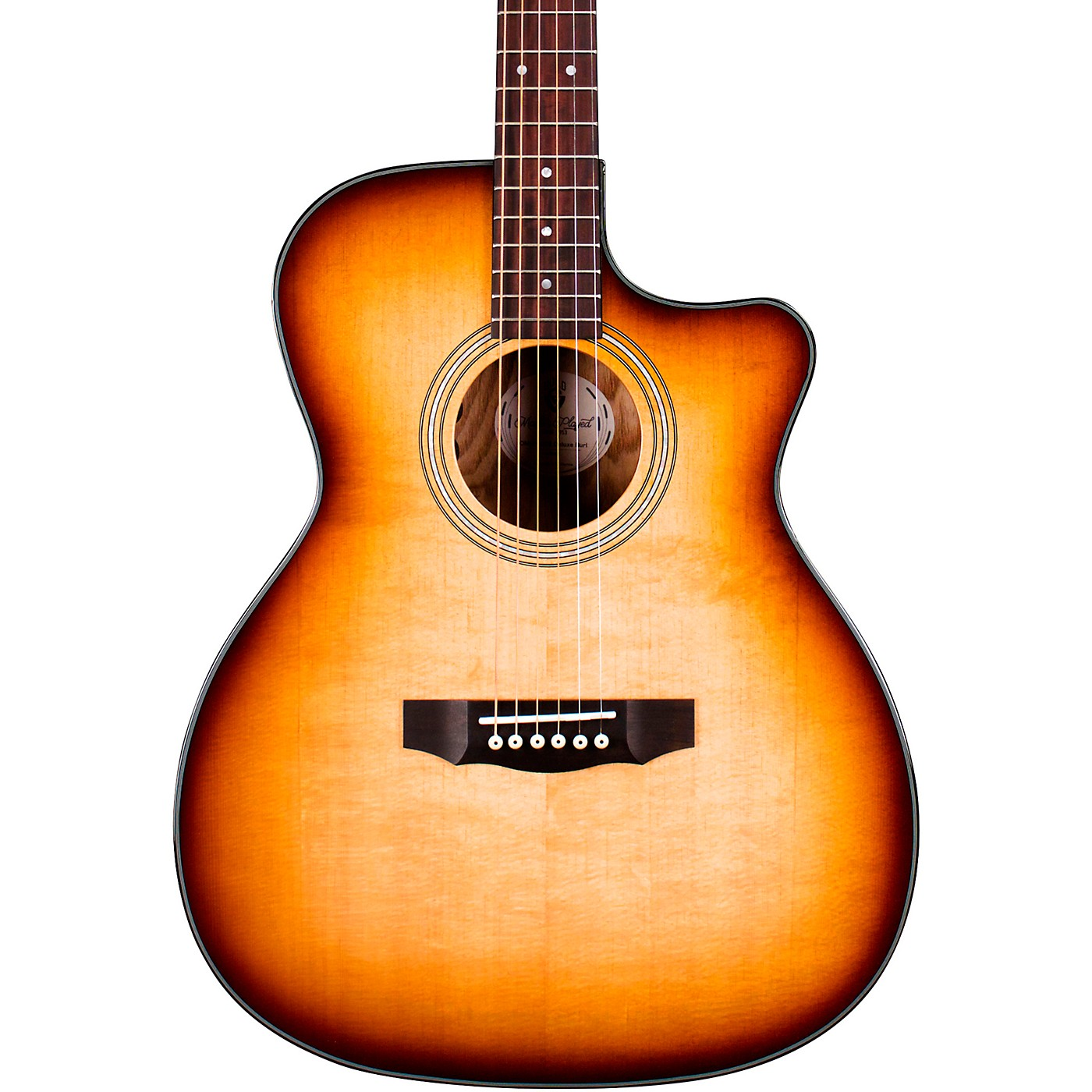 Guild OM-260CE Deluxe Burl Orchestra Cutaway Acoustic-Electric Guitar thumbnail