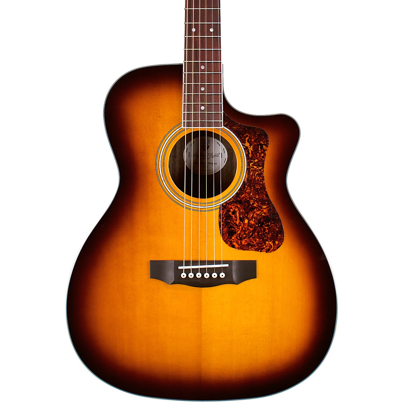 Guild OM-260CE Deluxe Orchestra Cutaway Acoustic-Electric Guitar thumbnail