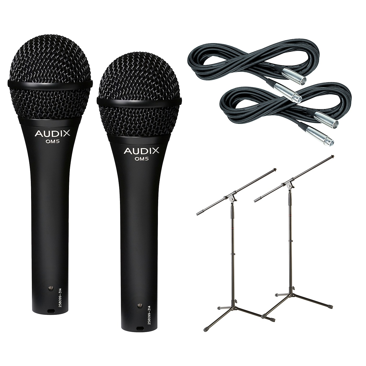 Audix OM-5 Mic with Cable and Stand 2 Pack thumbnail