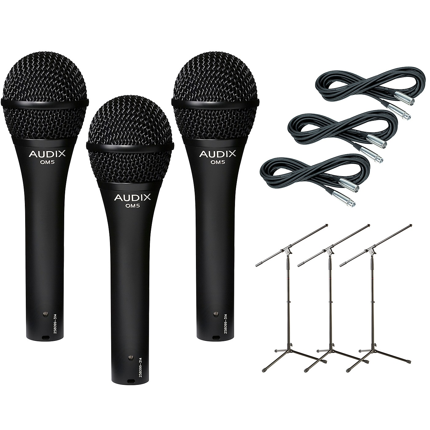 Audix OM-5 Mic with Cable and Stand 3 Pack thumbnail