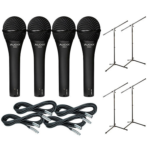 Audix OM-5 Mic with Cable and Stand 4 Pack thumbnail