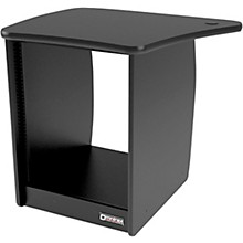 Omnirax OM13L 13-Rackspace Cabinet for the Left Side of the OmniDesk - Black