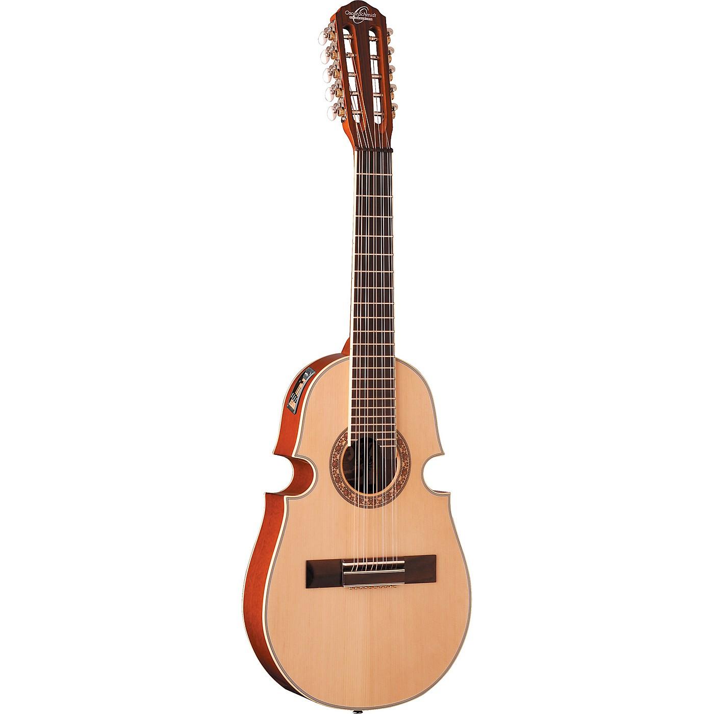 Oscar Schmidt OQ40SE-O Acoustic Electric Cuatro 10 String Guitar thumbnail