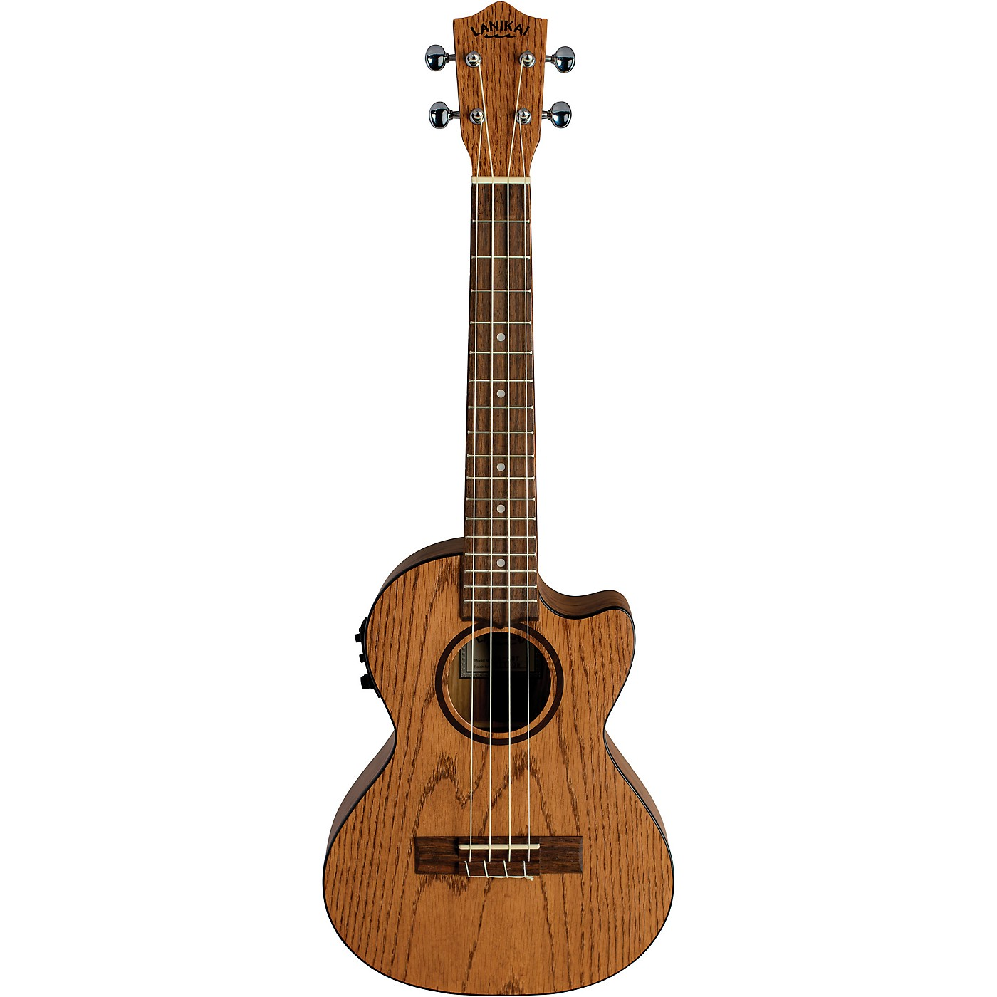 Lanikai Oak Acoustic-Electric Tenor Ukulele With Cutaway thumbnail