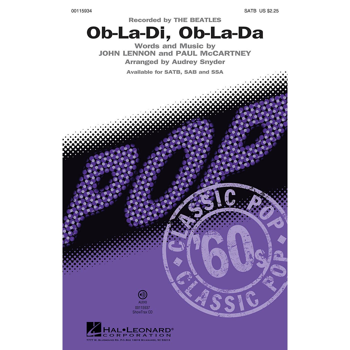 Hal Leonard Ob-La-Di, Ob-La-Da (ShowTrax CD) ShowTrax CD by The Beatles Arranged by Audrey Snyder thumbnail