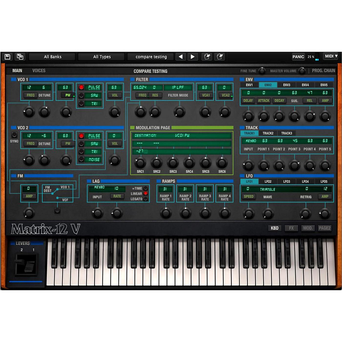 Arturia Oberheim Matrix 12V Software Synthesizer Software Download thumbnail