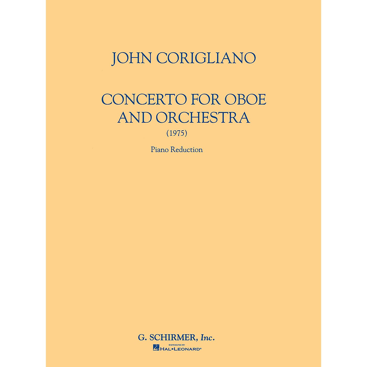 G. Schirmer Oboe Conc (Score and Parts) Woodwind Solo Series by John Corigliano thumbnail
