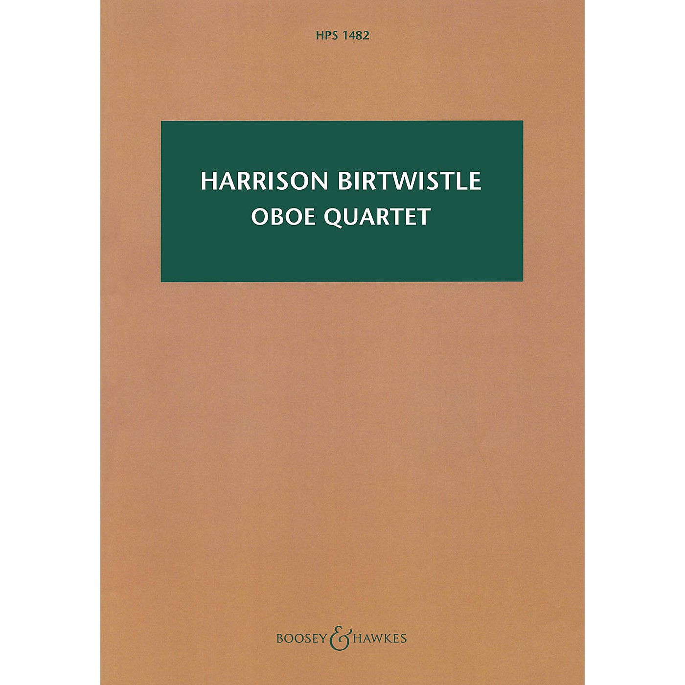 Boosey and Hawkes Oboe Quartet Boosey & Hawkes Scores/Books Series Softcover Composed by Harrison Birtwistle thumbnail