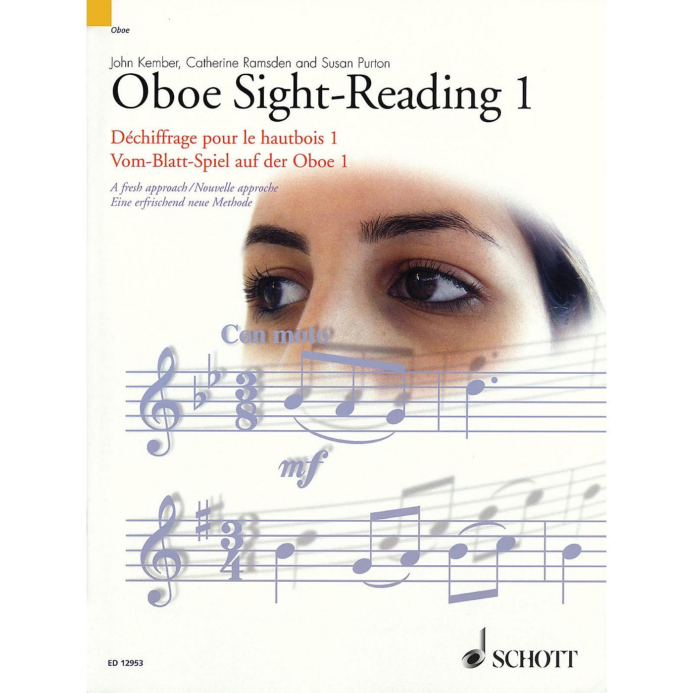 Schott Oboe Sight-Reading 1 Misc Series Edited by John Kember thumbnail