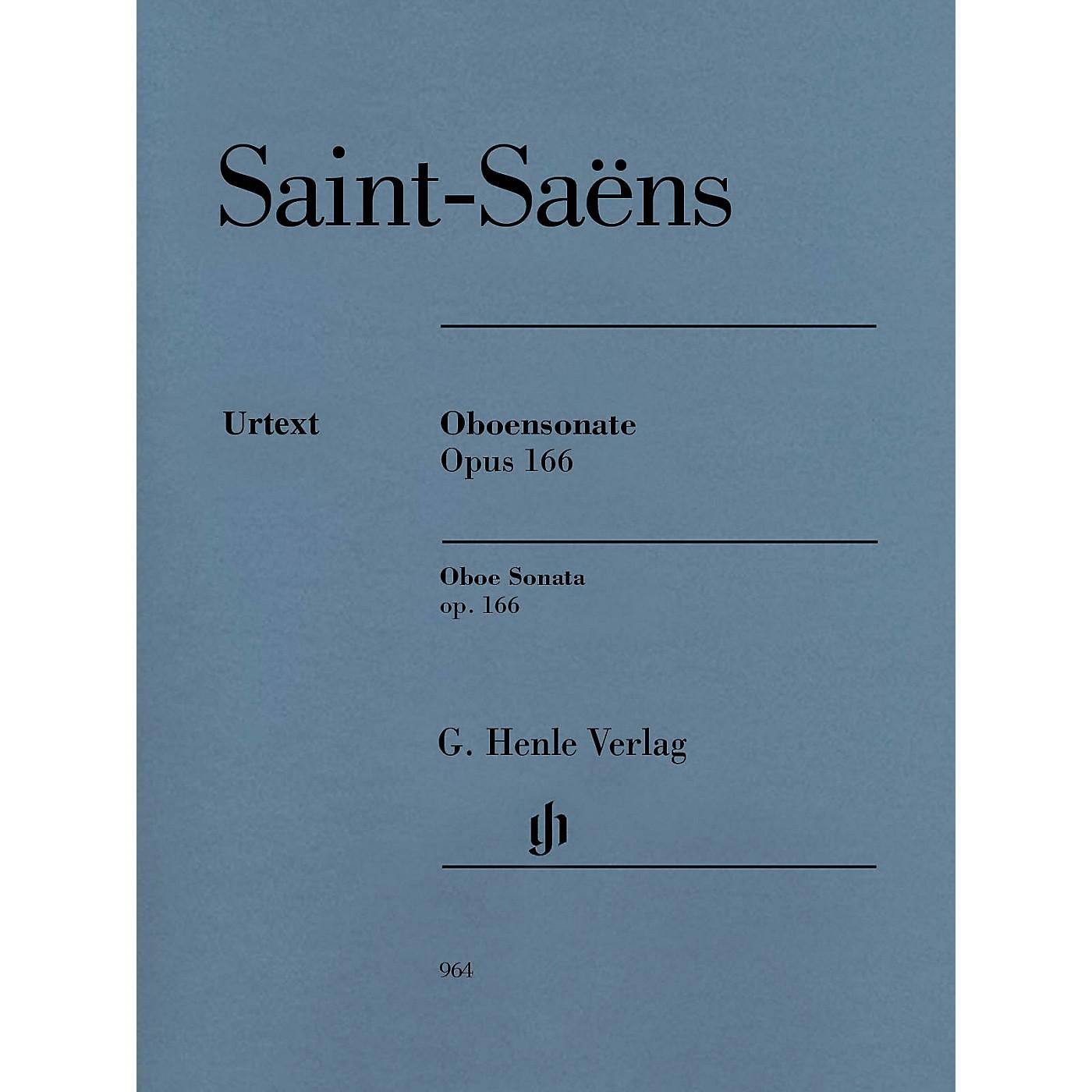 G. Henle Verlag Oboe Sonata, Op 166 Henle Music Folios Book by Camille Saint-Saëns Edited by Peter Jost thumbnail
