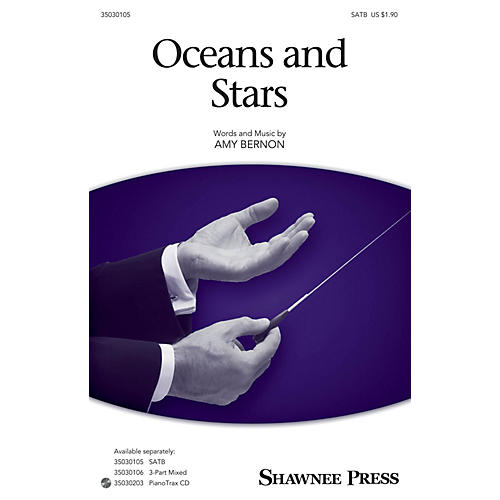 Shawnee Press Oceans and Stars SATB composed by Amy Bernon thumbnail