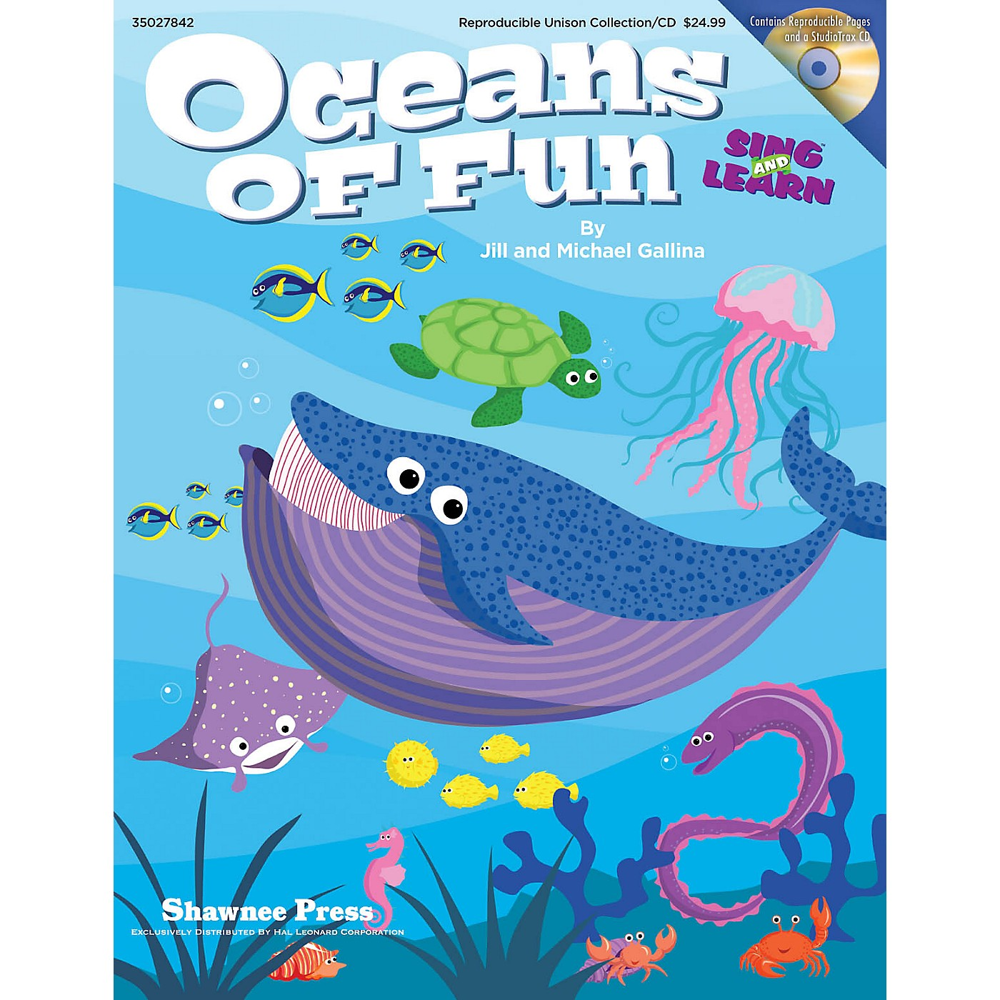 Shawnee Press Oceans of Fun (Sing and Learn) Enhanced CD Composed by Jill Gallina thumbnail