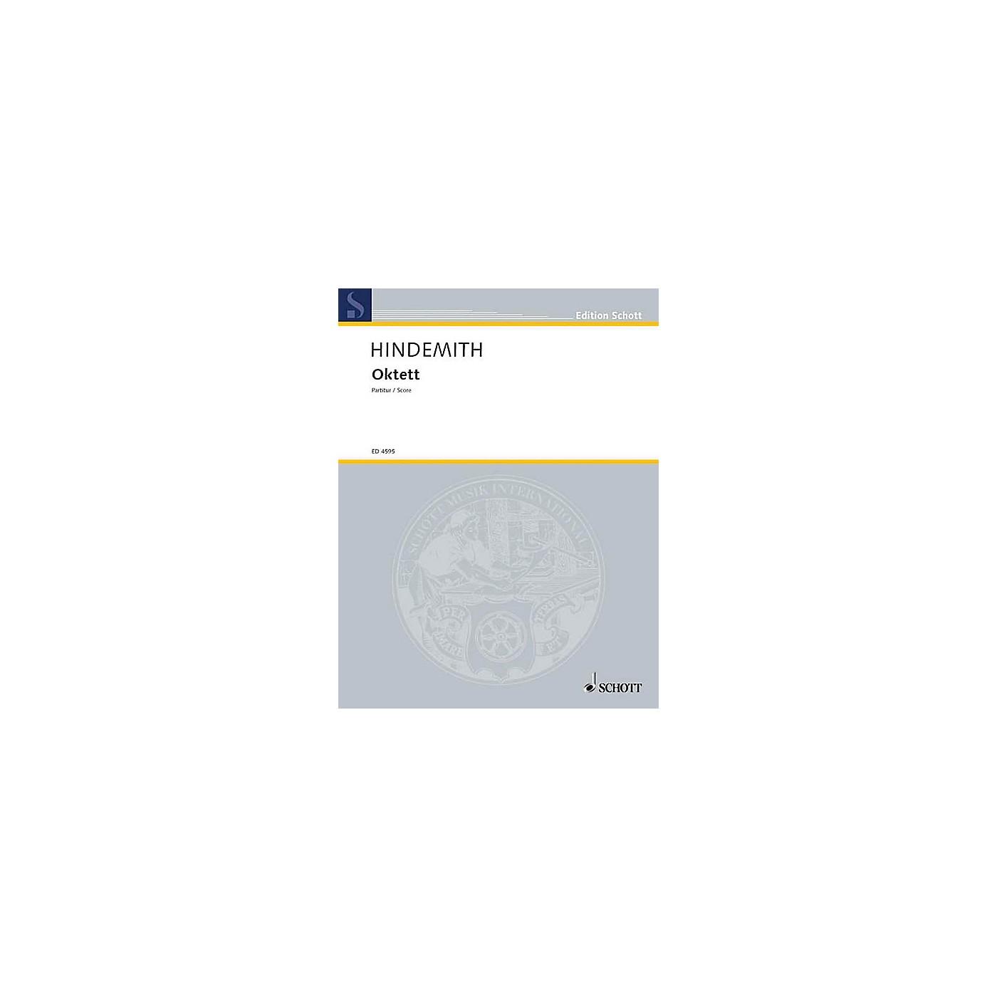 Schott Octet (Study Score) Schott Series Composed by Paul Hindemith thumbnail