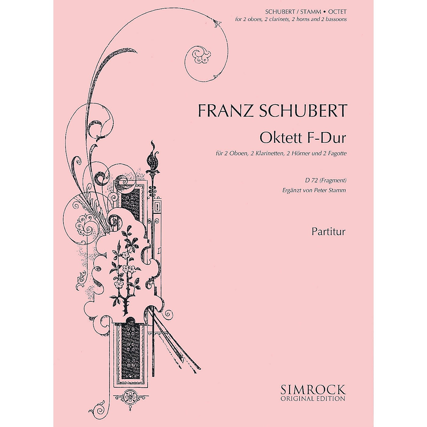 Simrock Octet in F Major, D72 (Fragment) (Score and Parts) Boosey & Hawkes Chamber Music Series by Franz Schubert thumbnail