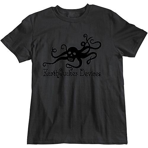 EarthQuaker Devices Octoskull T-Shirt - Black on Black thumbnail