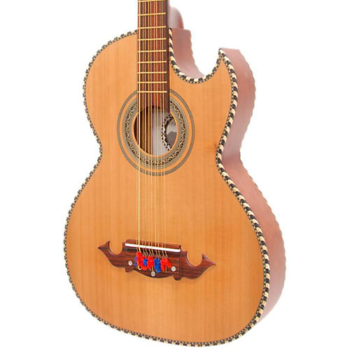 Paracho Elite Guitars Odessa-P 10 String Acoustic-Electric Bajo Quinto thumbnail