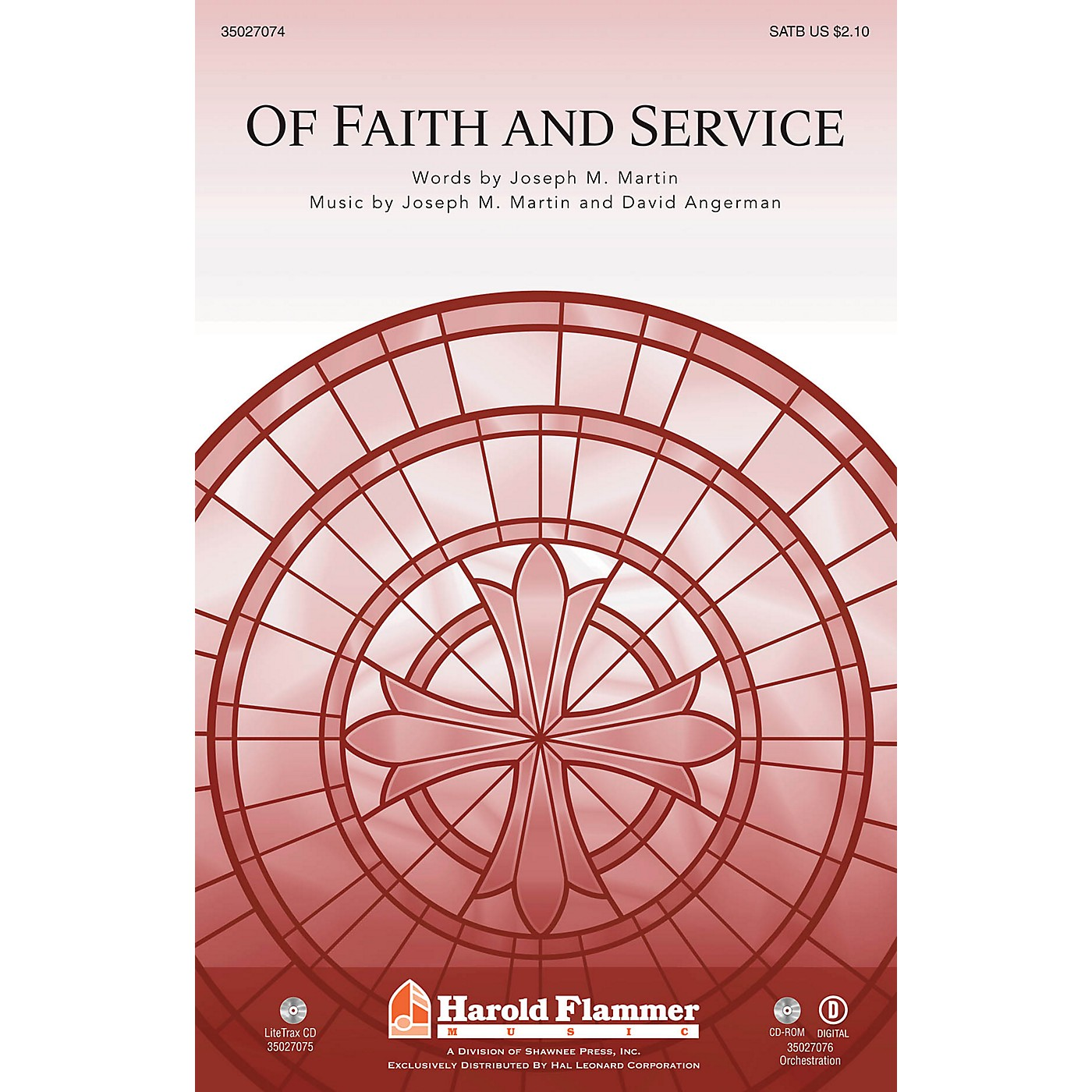 Shawnee Press Of Faith and Service (with Lead On, O King Eternal) SATB composed by Joseph M. Martin thumbnail