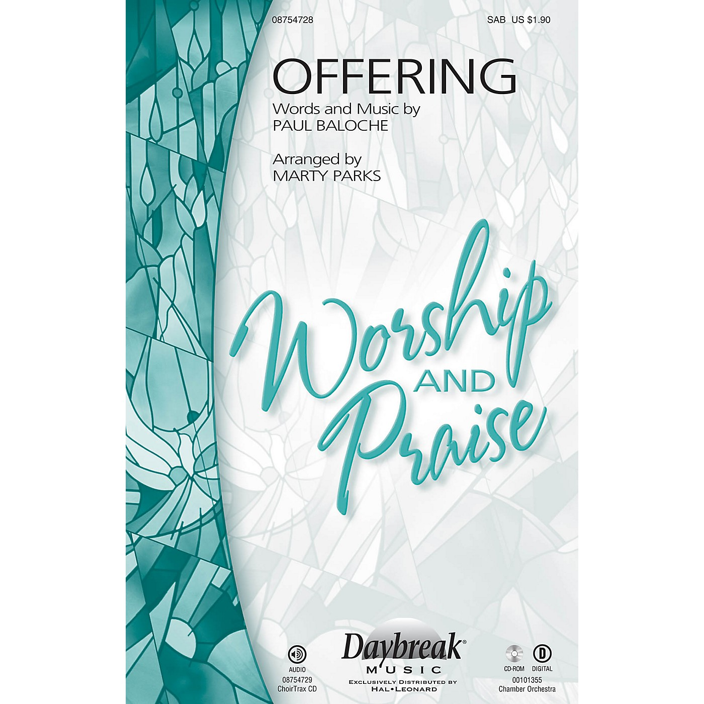 Daybreak Music Offering SAB by Paul Baloche arranged by Marty Parks thumbnail
