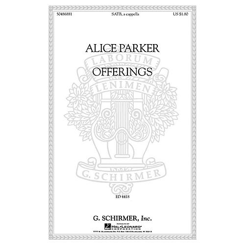 G. Schirmer Offerings SATB a cappella composed by Alice Parker thumbnail